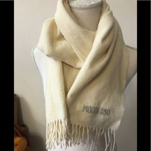 Moschino wool scarf in winter white